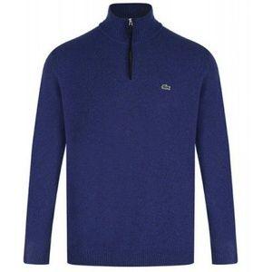 Lacoste Quarter Zip Pullover Sweatshirt